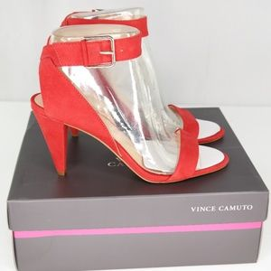 Vince Camuto Caitriona Sandals Sz 8 Cherry Red